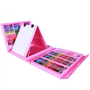 Набор канцелярских товаров для рисования с мольбертом Art Set Pink( SKL25-238153_098)