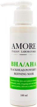 Концентрированная маска с кислотами Amore BHA / AHA против черных точек и акне 100 мл (4822225691001)