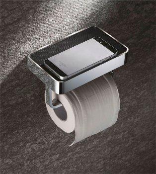 Держатель для туалетной бумаги AQUA RODOS Leonardo 8336 c полочкой хром