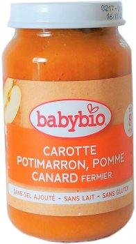 Упаковка дитячого пюре Babybio Органічного з овочів і качки з 8 місяців 200 г х 2 шт. (3288137510648_3288131510644)