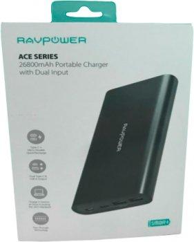 УМБ RAVPower 26800mAh 2020Q4 Upgraded Dual Input Portable Charger Black (RP-PB067)