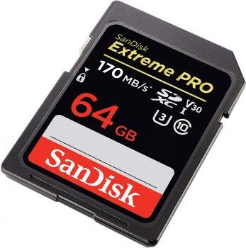 SanDisk SDXC Extreme Pro 64GB V30 UHS-I U3 (SDSDXXY-064G-GN4IN)