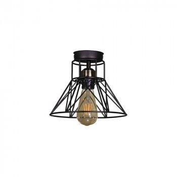 Потолочный светильник Лофт Skarlat Фигурная Проволока Черный d - 230 mm (LS 1206-1G)