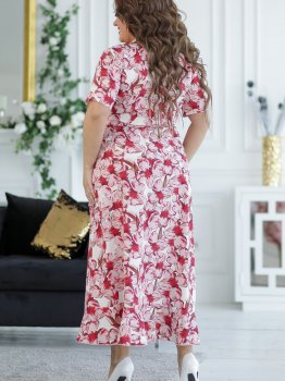 Плаття New Fashion 131 Молочне з червоним