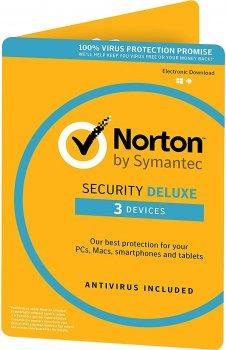 Антивірус Norton Security Deluxe 3.0 для 3 ПК на 2 роки ESD-електронний ключ у конверті (C4526683)