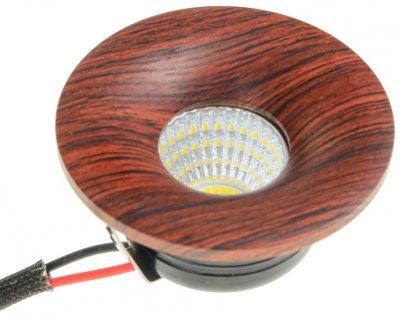 Світильник точковий Brille LED-199/3W NW RED Wood (36-197)