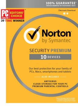 Антивірус Norton Security Premium 3.0 для 10 ПК на 2 роки ESD-електронний ключ у конверті (C4526685)