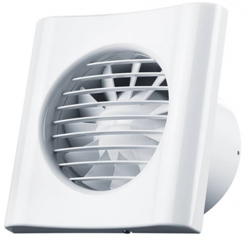 Вентилятор Домовент 100 ТИША (на подшипнике, обратный клапан, тихий)