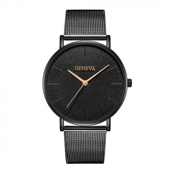 Кварцові годинники Quartz Geneva So Black