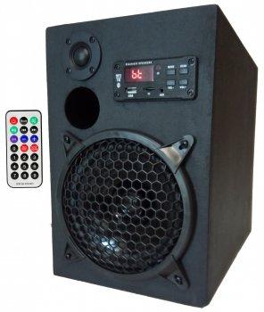 Портативна бездротова Bluetooth колонка M-lab з пультом Чорна