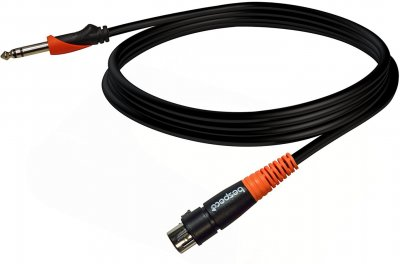 Мікрофонний кабель Bespeco SLJF600 6 м Black/Orange (23-3-8-8)