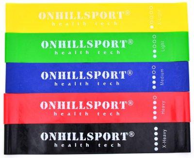 Набір еспандерів для фітнесу Onhillsport Mini Bands 5 в 1 (ES-1001)