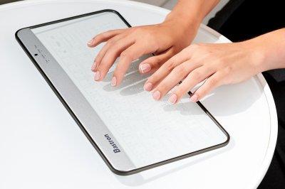 Скляна бездротова клавіатура Bastron B9 Сірий (518131G)