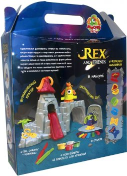 Набор для лепки Strateg Rex and friends (4820220560988)
