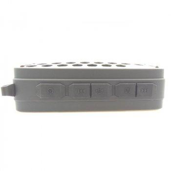 Портативна Bluetooth колонка NewRixing NR-4011 IP68 + Anti Beat Gray (Сірий)