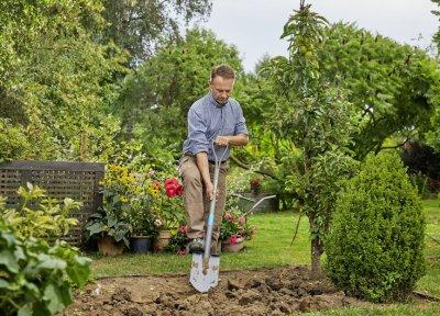 Лопата садовая штыковая заостренная Gardena NatureLine D-образная рукоятка 117 см (17001-20.000.00)