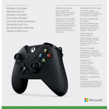 Microsoft Xbox One S Wireless Controller with Bluetooth (Black) + USB Кабель для Windows