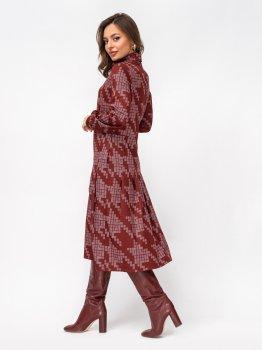 Платье Dressa 52931 Бордовое