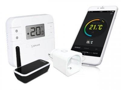 Інтернет-програмований термостат SALUS RT310iSPE в комплекті з бездротовою розеткою