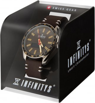 Смарт-годинник Atrix Infinitys X10 45mm Swiss Classic Chrono Gold-Brown (swwpaii1sccgb)