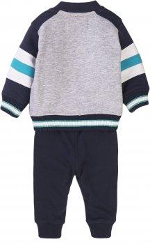 Комплект (бомбер + футболка + спортивные штаны) Minoti Cute 1 16090 Синий
