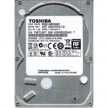 """Жорстку диск для ноутбука 2.5"""" 500GB TOSHIBA (# MQ01ABD050V #)"""
