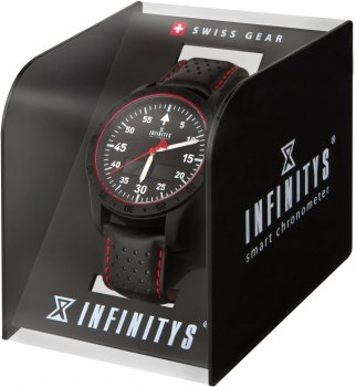 Смарт-годинник Atrix Infinitys X20 45mm Swiss Sport Chrono Black-Leather (swwpaii2sscbl)