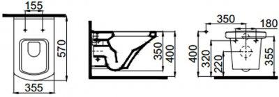 Унитаз подвесной IDEVIT Vega SETK2804-0606-001-1-10000 + сиденье Soft Close дюропласт