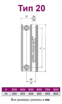 Радиатор стальной QUINN SENSA тип 20 600x600 мм (Q20606RT)