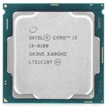 Процесор Intel Core i3 LGA1151 i3-8100 Tray 4x36 GHz UHD Graphic 630 1100 MHz L3 6Mb Coffee Lake 14 nm TDP 65W
