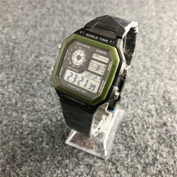Годинник Casio AE-1200 Black-Green - 225843