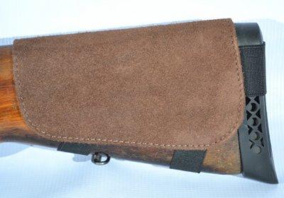 Патронташ на приклад на 6 патронов замш коричневый (5081/2)