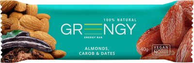 Упаковка батончиков Greengy Финики, Миндаль и Кэроб 12 шт х 40 г (4820221320499)
