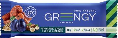 Упаковка батончиков Greengy Финики, Чернослив, Фундук и Кунжут 12 шт х 40 г (4820221320505)