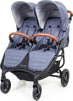 Прогулянкова коляска для двійнят Valco baby Snap Duo Trend Denim (9872) (9315517098725)