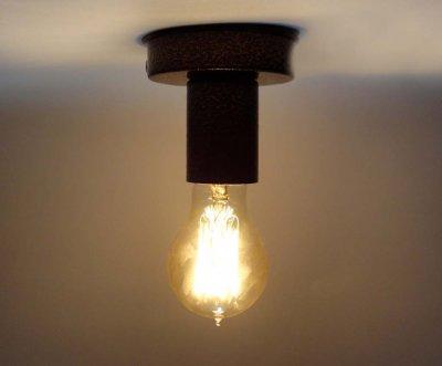 Світильник бра настінно-стельовий на 1-лампу BASE E27 коричневий