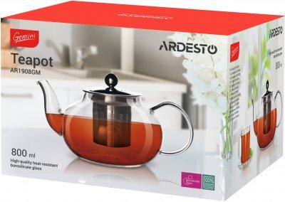 Заварочный чайник Ardesto Gemini 0.8 л (AR1908GM)