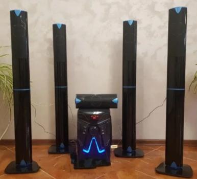 Комплект акустики 5в1 домашній кінотеатр ERAEAR EV 5 100W (USB/FM-радіо/Bluetooth)