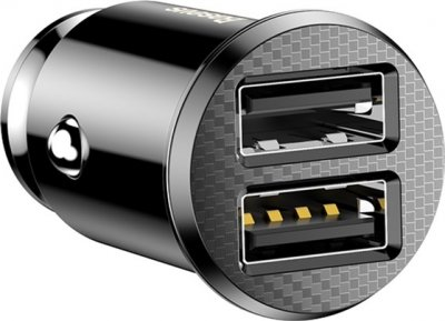 Автомобильное зарядное устройство Baseus Small Rice Grain 3.1А Black (CCALL-ML01)