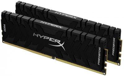 Оперативна пам'ять HyperX DDR4-4800 16384 MB PC4-38400 (Kit of 2x8192) Predator Black (HX448C19PB3K2/16)