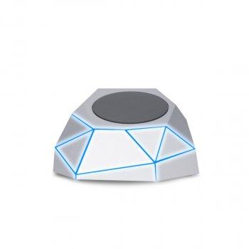 Бездротове Зарядний Пристрій Xoopar - Geo Dock (Сріблясте З Синім Led-Підсвічуванням)