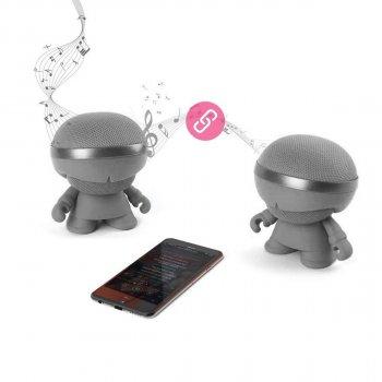 Акустика Xoopar - Xboy Glow (12 Cm, Сіра, Bluetooth, Стерео, З Mp3-Програвачем З Sd-Карти)