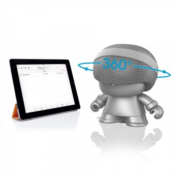 Акустика Xoopar - Grand Xboy(20 Cm, Срібляста, Bluetooth, Стерео)