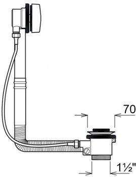 Сифон для ванны Ghidini DN40 мм с автопробкой (771C)