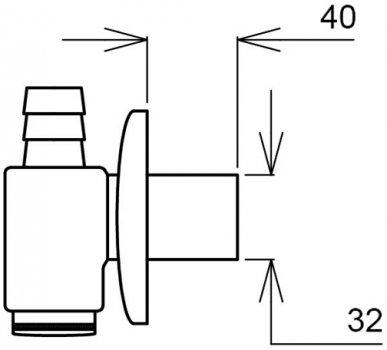 Сифон для стиральной машины Ghidini DN32 мм внешний (422)