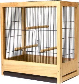 Клетка для птиц Лорі Loft Ретро 50 х 46.5 х 29 см Светло-коричневая (4823094305457)