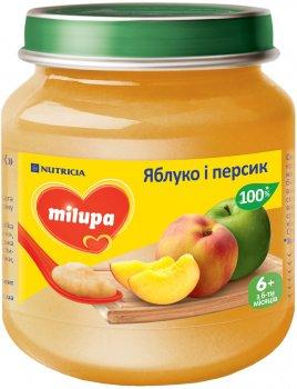 Упаковка фруктового пюре Milupa Яблуко та персик з 6 місяців 6 шт. х 125 г (8591119003751)