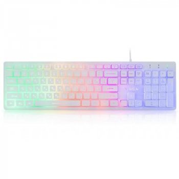 Клавіатура Vinga KB410 White