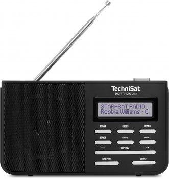 Цифровий радіоприймач TechniSat DigitRadio 210 DAB, DAB+, FM Чорний (0000/4961)