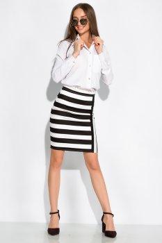 Класична спідниця в смужку Time of Style 120PSE012-2 Чорно-білий (Style Team)